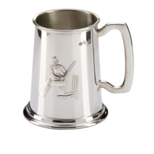 Classic Cricket Pewter Tankard